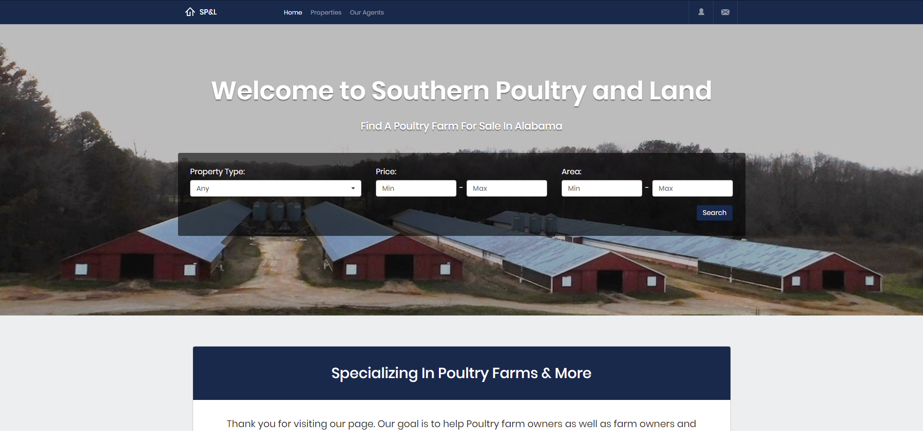 Home - Southern Poultry and Land